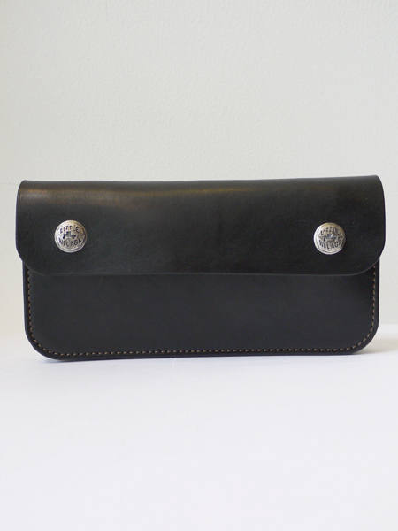 "TRUCKERS' WALLET ""LONG"" / トラッカーズウォレット  (BLACK × SILVER) (MODEL ""A"" BUTTON)"