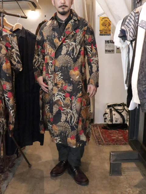 Fowl Pattern Hitman Coat / BLACKSIGN 2019 SS COLLECTION