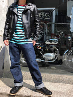 Lewis Leathers ×ストリート